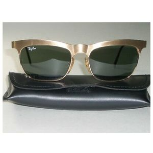 *rare* Vintage brushed gold ray-bans